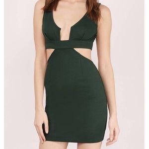 Forest Green Cutout Dress